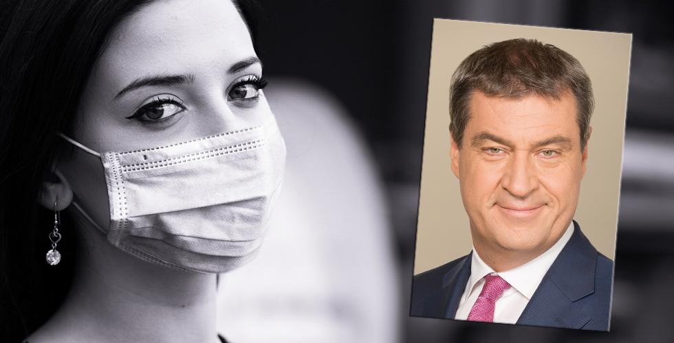 Bavyera'da maske takmayana 250 Euro ceza