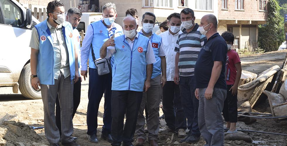Diyanet İşleri Türk İslam Birliği, Giresun'da yaraları sarıyor