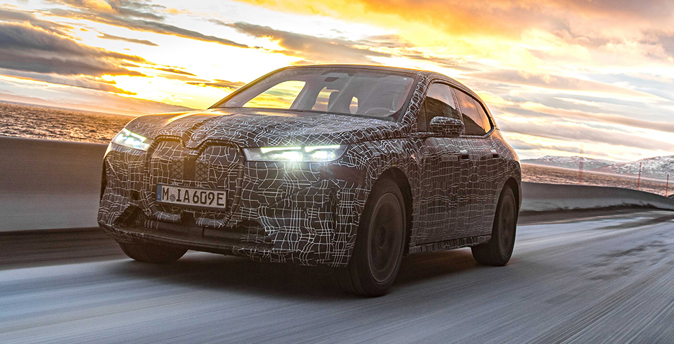 BMW iXEn Zorlu Kış Şartlarında Test Ediliyor